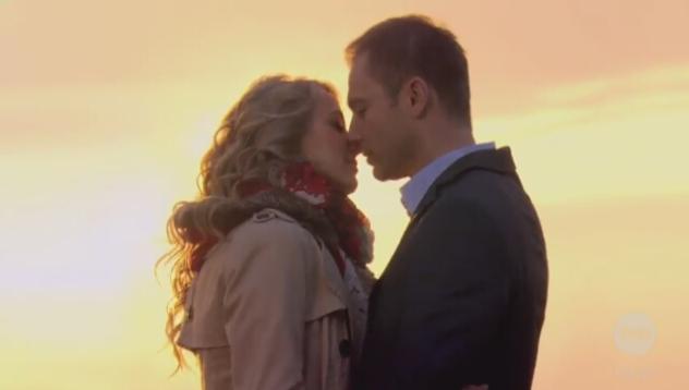 Romantyczna pocałunek Julii i Janka