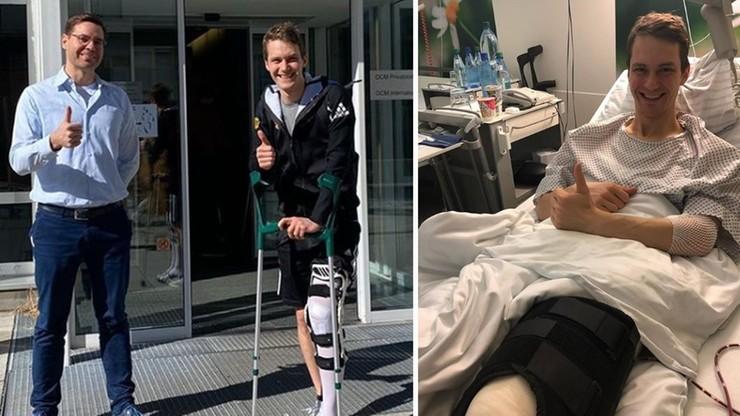 Leyhe wyszedł ze szpitala! Skoczek przeszedł operację po fatalnym upadku