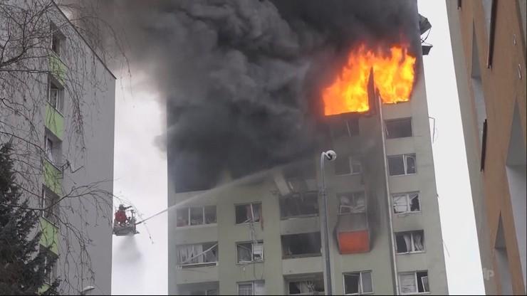 Pożar i wybuch w bloku w Preszowie na Słowacji