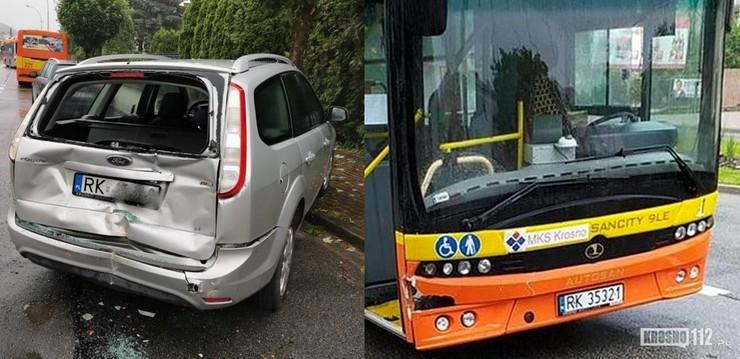 W wyniku zdarzenia uszkodzone zostały oba pojazdy