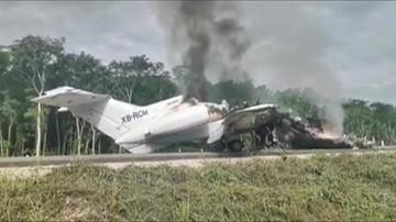Samolot rozbił się na środku drogi i stanął w płomieniach. Był wypełniony narkotykami