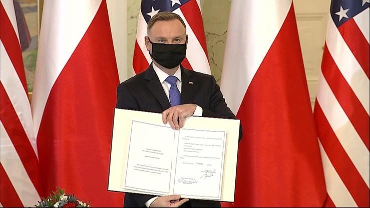 Zwiększenie liczby amerykańskich żołnierzy w Polsce. Prezydent Andrzej Duda ratyfikował umowę