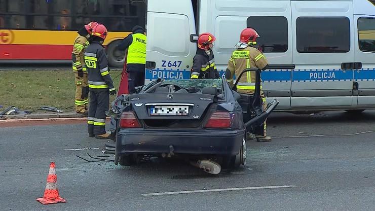 Śmiertelny wypadek w Warszawie. Gigantyczne korki