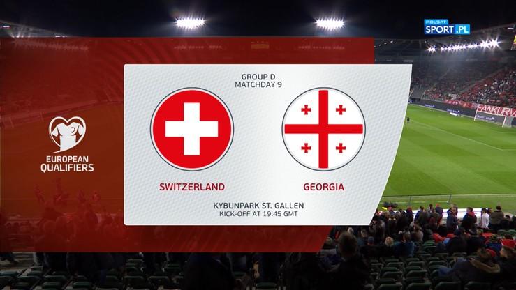 Szwajcaria - Gruzja 1:0. Skrót meczu