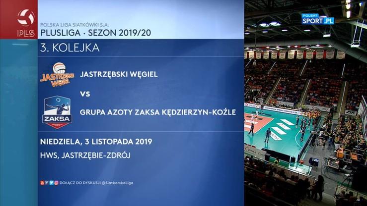 Jastrzębski Węgiel - Grupa Azoty ZAKSA Kędzierzyn-Koźle 0:3. Skrót meczu