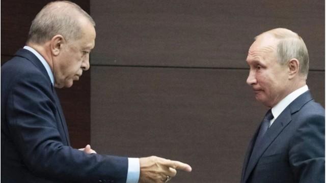 Putin na rozmowach z Erdoganem: sytuacja w Syrii jest bardzo ostra