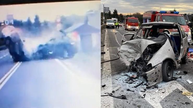 """Pijany kierowca i czołowe zderzenie. """"Cud, że nikt nie zginął"""" [WIDEO]"""