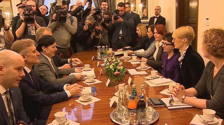 Wiceszefowa KE spotkała się z marszałek Sejmu.