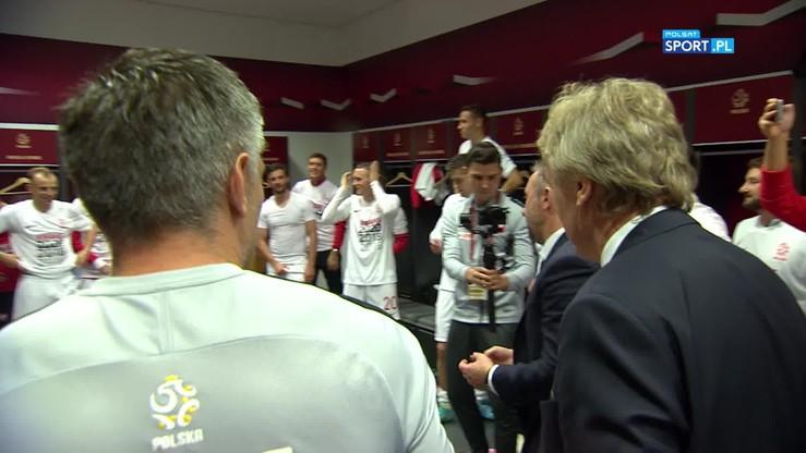 2019-10-14 Wielka radość reprezentacji Polski w szatni. Co zawodnikom powiedział Brzęczek?