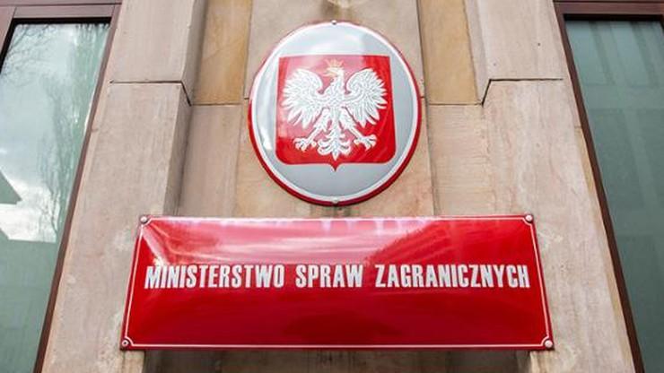 Przedstawiciel Niemiec wezwany do MSZ. Wiemy, o czym rozmawiano