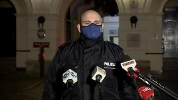 Posłanka KO spryskana gazem. Policja pokazuje nagranie z kamery na mundurze