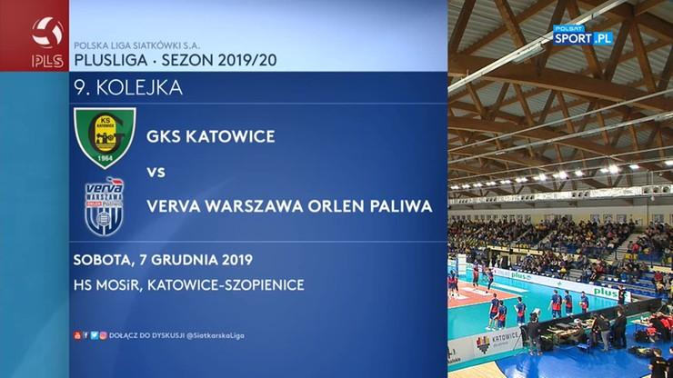 GKS Katowice – Verva Warszawa Orlen Paliwa 2:3. Skrót meczu