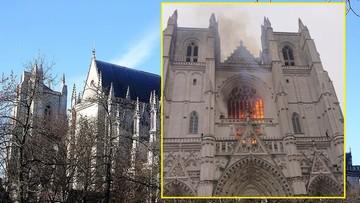 """""""Poważny pożar"""" katedry w Nantes. Jej budowa ruszyła w XV wieku"""