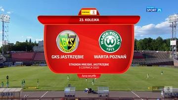 GKS 1962 Jastrzębie - Warta Poznań 1:2. Skrót meczu