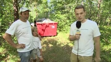 Dziennikarze sprzątają lasy. Inicjatywa Programu Czysta Polska