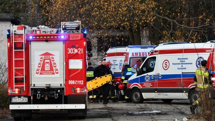 Pożar kamienicy w Brzegu. Policjanci zatruli się dymem