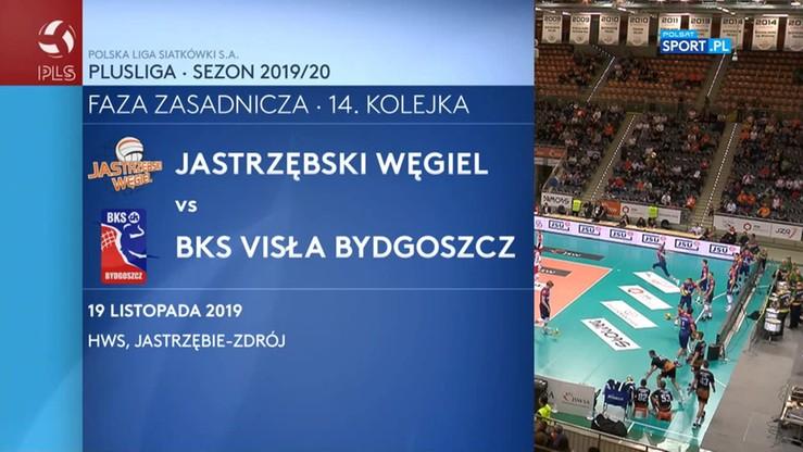 Jastrzębski Węgiel - BKS Visła Bydgoszcz 3:2. Skrót meczu