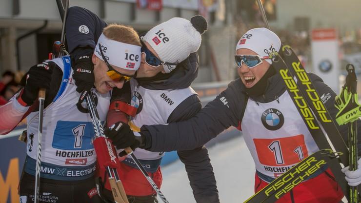 PŚ w biathlonie: Czwarta w sezonie wygrana Boe. Odległa pozycja Guzika