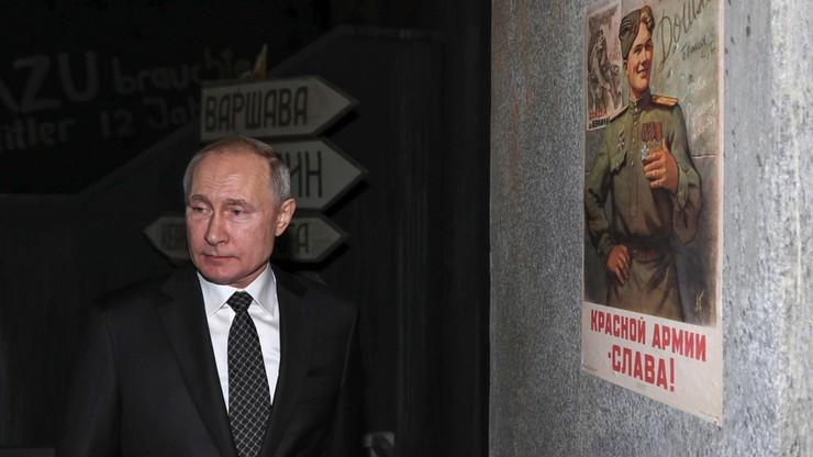 """Putin: zamkniemy """"ohydne usta"""" tym, którzy próbują przeinaczyć historię"""