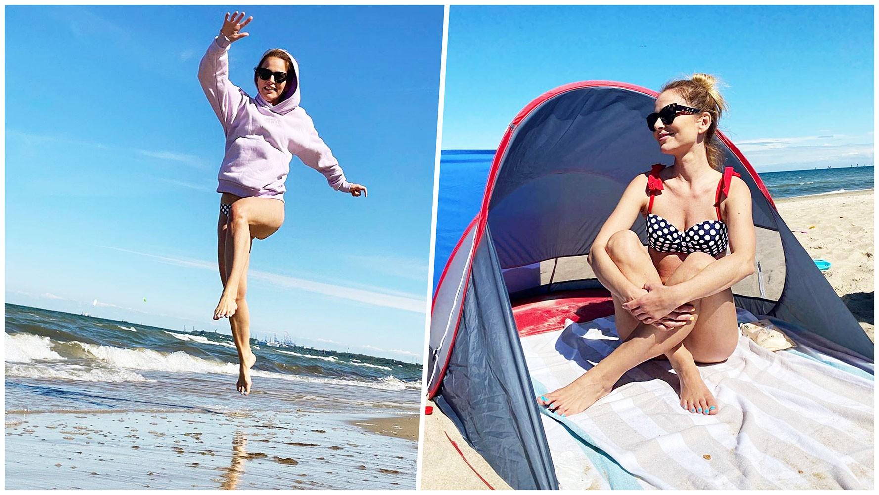 Paulina Sykut-Jeżyna korzysta z pogody nad morzem. Są fotki!