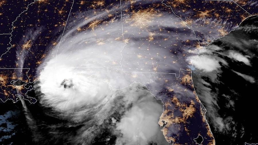 Zdjęcie satelitarne huraganu Sally. Fot. NASA.