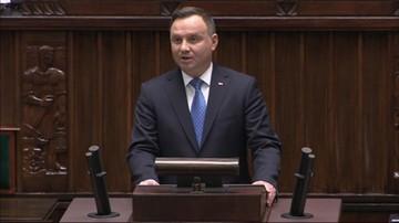 Prezydent w Sejmie: jeżeli ktoś nie ma poglądów, to nie powinien tutaj zasiadać