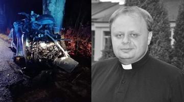 Próbował ominąć sarnę, uderzył w drzewo. Rektor seminarium zginął w wypadku