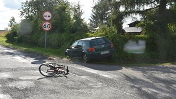 Nastoletni rowerzyści w serii dramatycznych wypadków