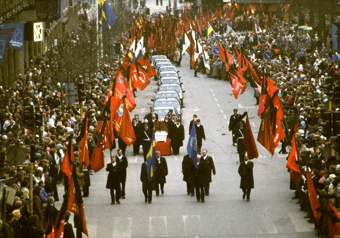 Pogrzeb premiera Szwecji Olofa Palmego