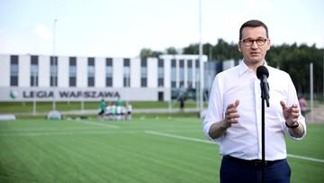"""Premier w ośrodku treningowym Legii Warszawa. """"Przed polską piłką jeszcze lepsza przyszłość"""""""