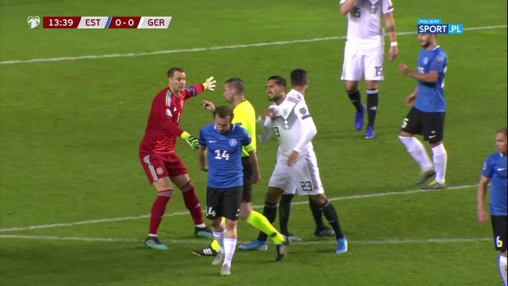 Niemcy w dziesiątkę już w 14. minucie meczu z Estonią!