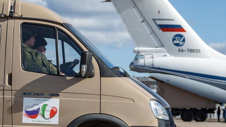 """Do Rzymu przyleciał rosyjski samolot z pomocą medyczną. """"From Russia with love"""""""