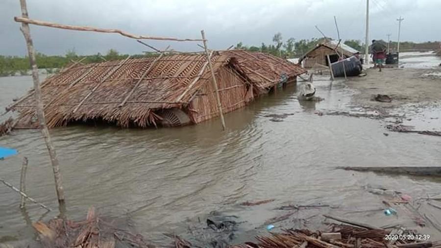 Skutek cyklonu Amphan w Indiach. Fot. Fundacja ADRA Bangladesz.