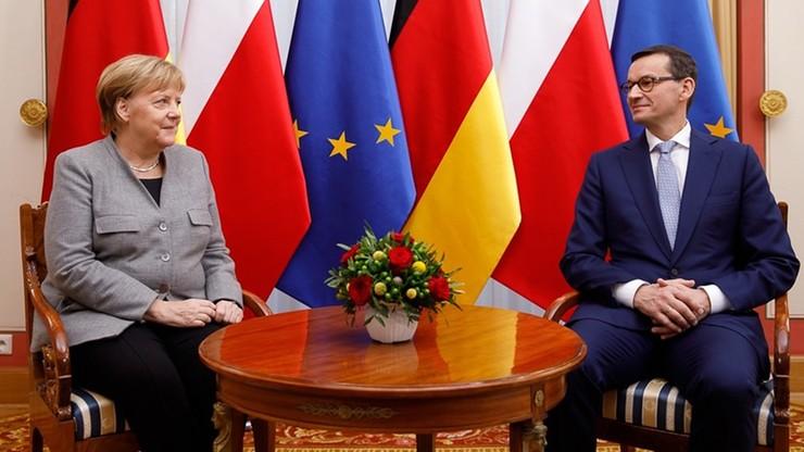 Morawiecki rozmawiał z Merkel. Tematem m.in. pieniądze z Brukseli