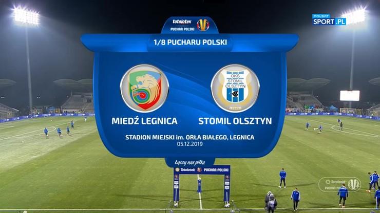 Miedź Legnica - Stomil Olsztyn 1:1 (po dogrywce i rzutach karnych 4:3). Skrót meczu