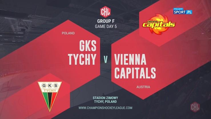 2019-10-08 GKS Tychy - Vienna Capitals 4:2. Skrót meczu