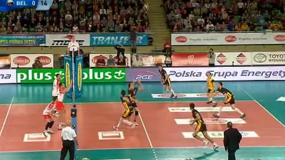Delecta Bydgoszcz - PGE Skra Bełchatów skrót set 1, PlusLiga