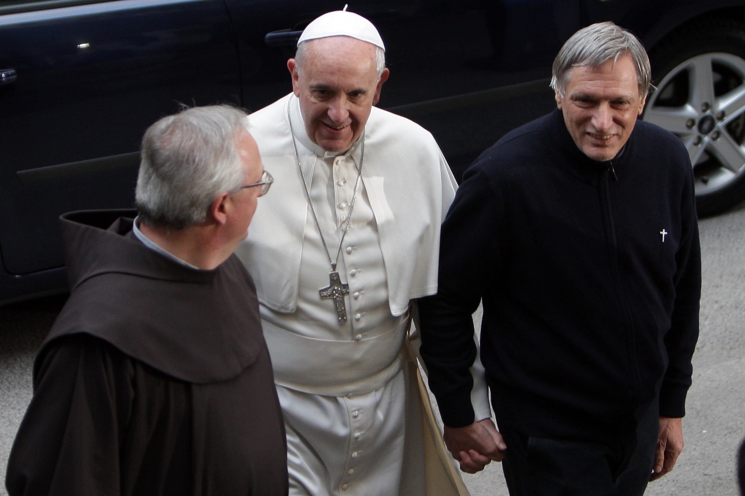 Papież Franciszek i Luigi Ciotti (2014)