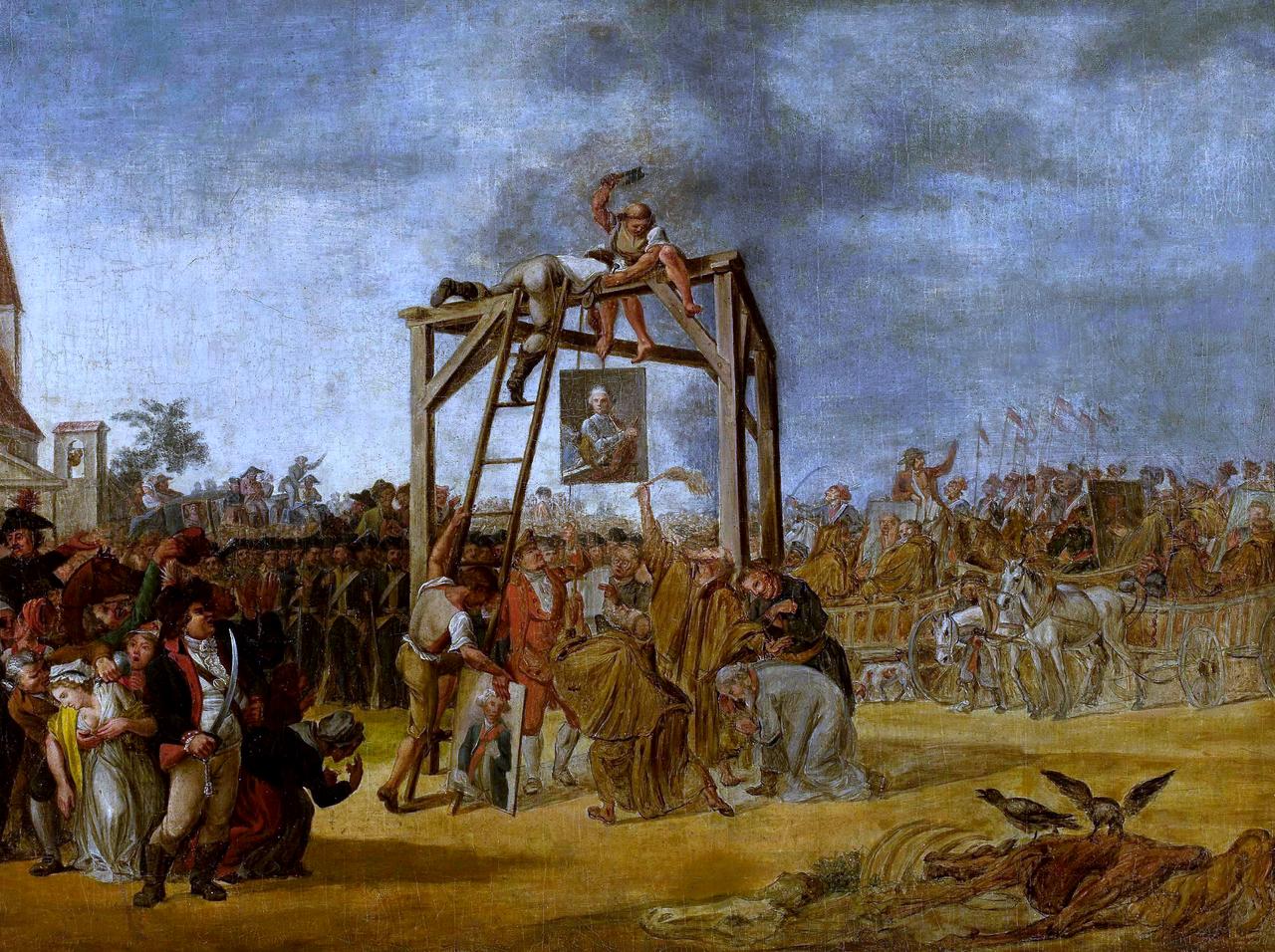 """""""Wieszanie zdrajców"""", obraz Jana Piotra Norblina, 1794"""