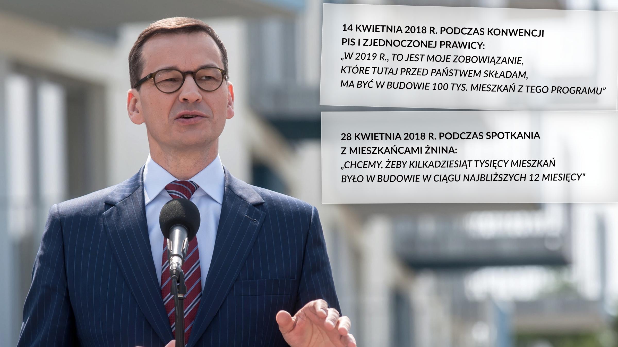 """Zapowiedzi Mateusza Morawieckiego w związku z programem """"Mieszkanie Plus"""""""