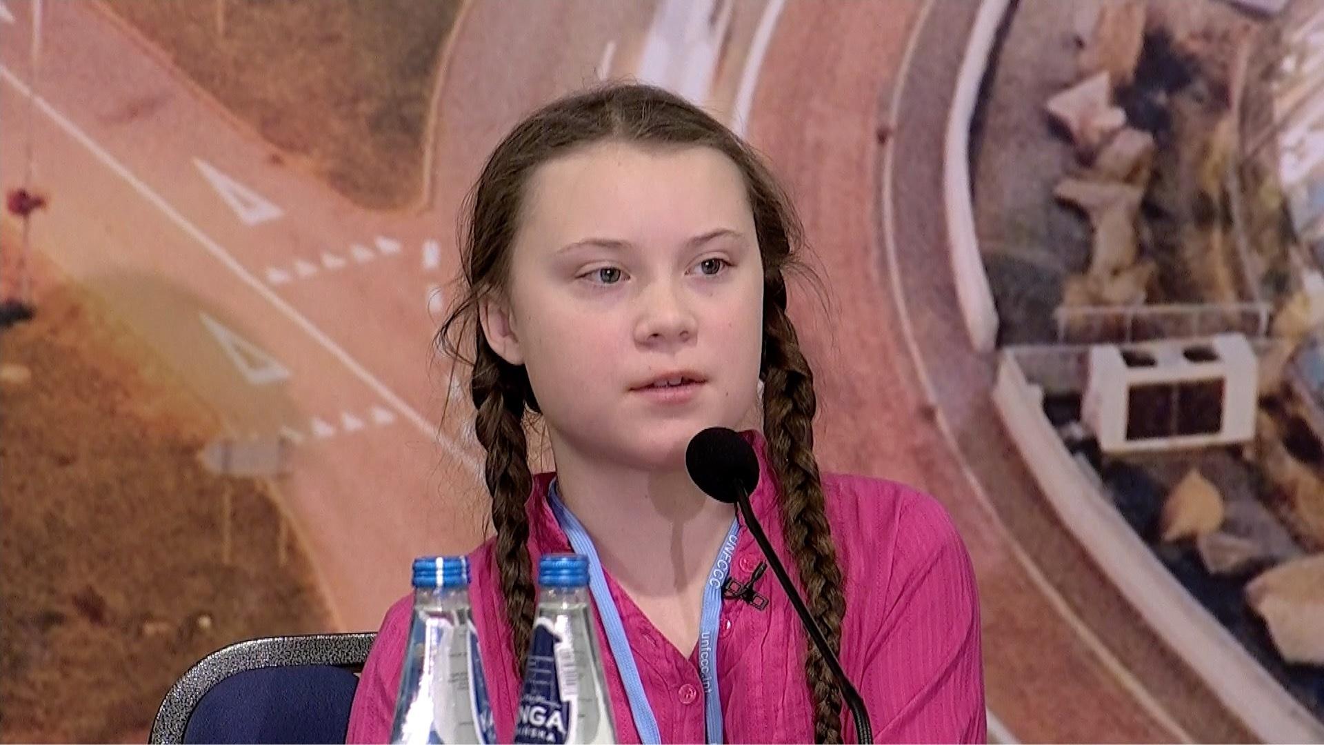 15-letnia Greta Thunberg w czasie COP24 w Katowicach