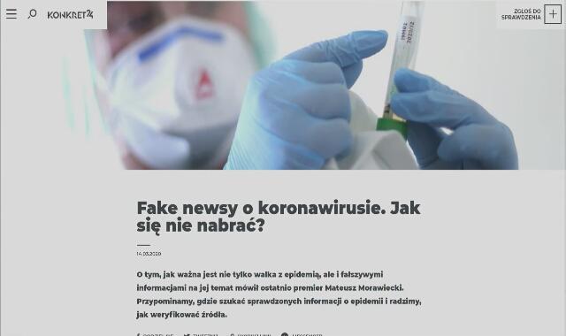 Jak się nie nabrać na fake newsy o koronawirusie - radzi Beata Biel z Konkret24