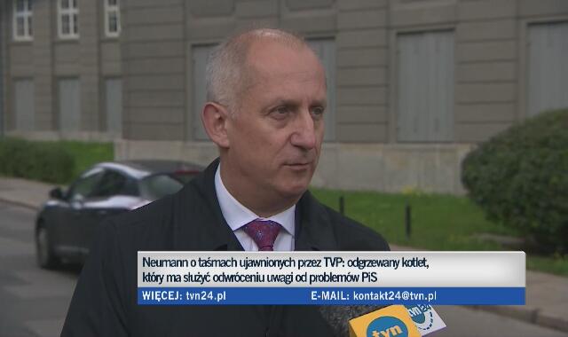 Pełna wypowiedź Sławomira Neumanna wyemitowana na antenie TVN24 4 października