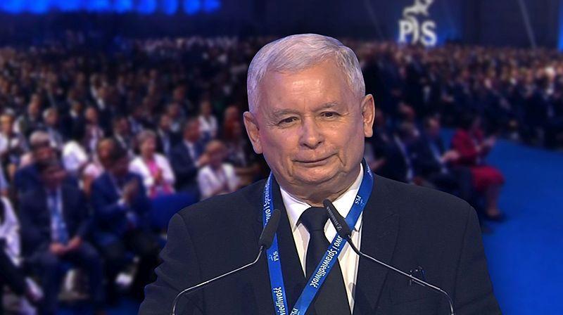02.07.2016 | Jarosław Kaczyński ponownie prezesem PiS. Na kongresie partii zapowiedział zmianę konstytucji
