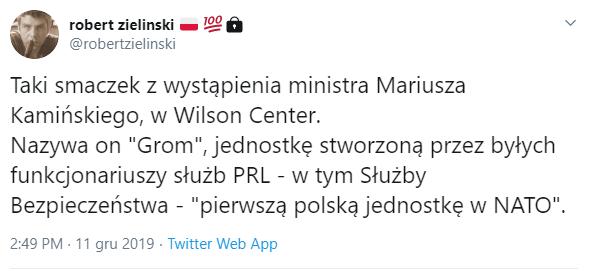 Dziennikarz tvn24.pl pisze o twórcach jednostki specjalnej GROM