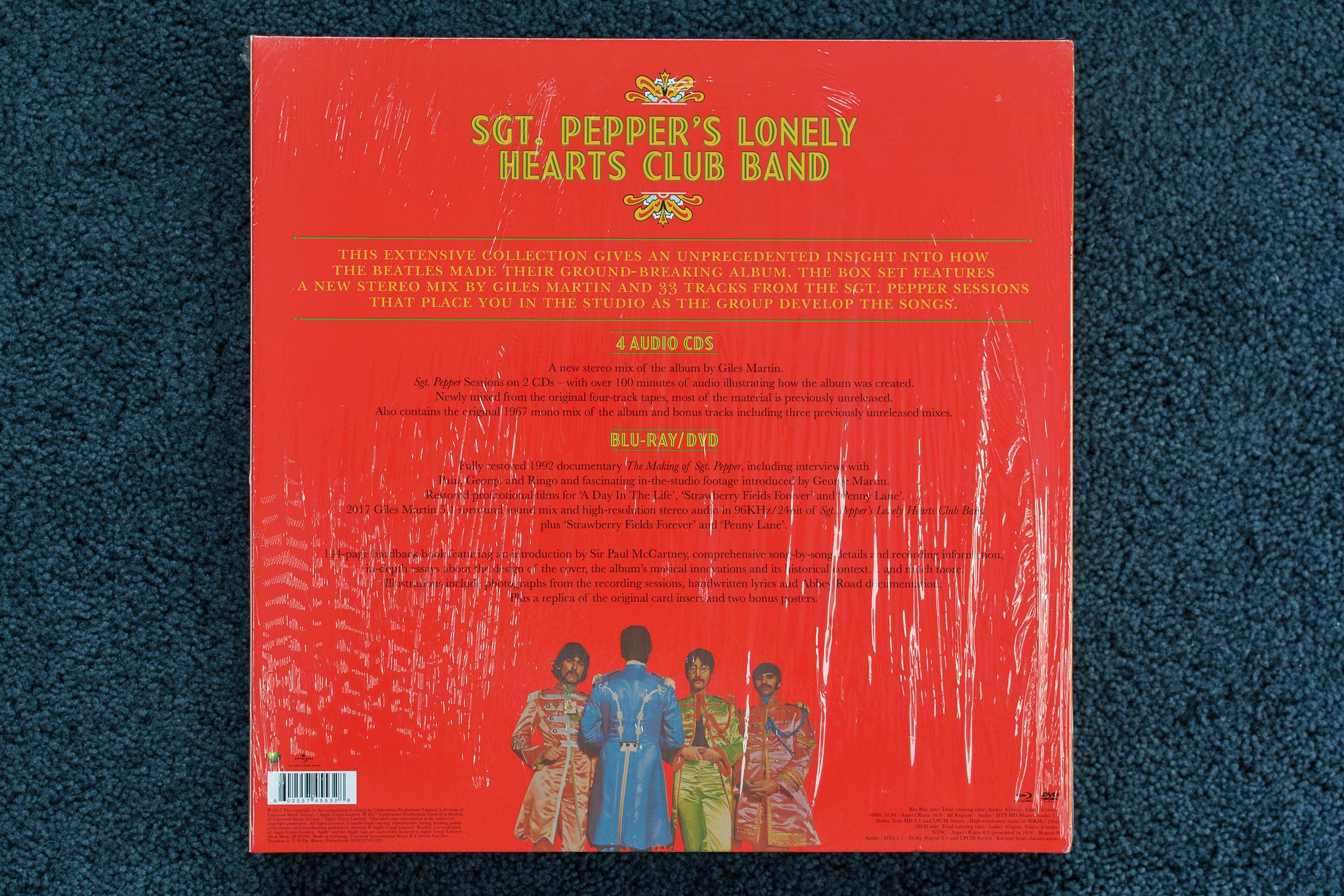 """Tył okładki """"Sgt. Pepper's Lonely Hearts Club Band"""""""