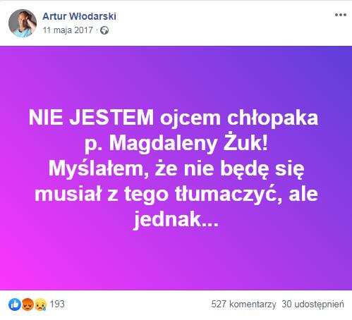 Wpis Artura Włodarskiego