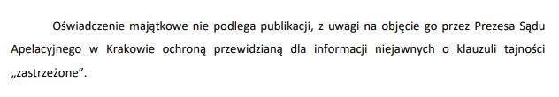Informacja o oświadczeniu o stanie majątkowym sędziego Żurka za 2018 rok