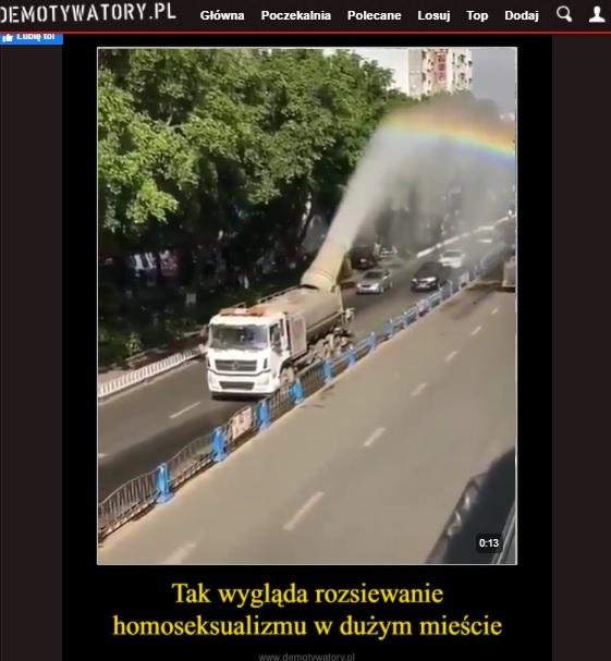 Film opublikowany w serwisie Demotywatory opatrzono obraźliwym komentarzem