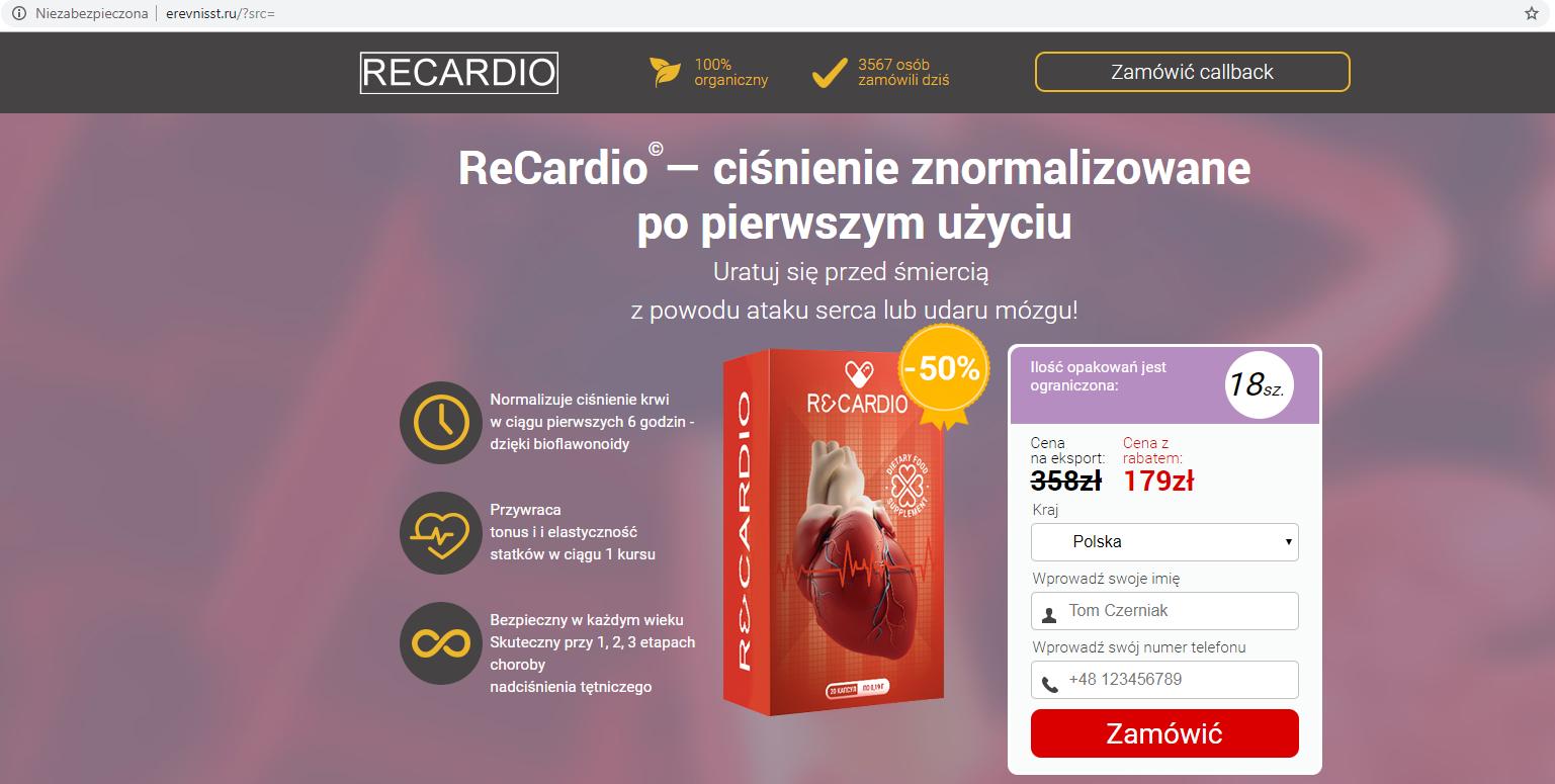 """Strona umożliwiająca zakup preparatu, do której prowadzą wszystkie linki z artykułu o """"głównej kardiolog"""""""
